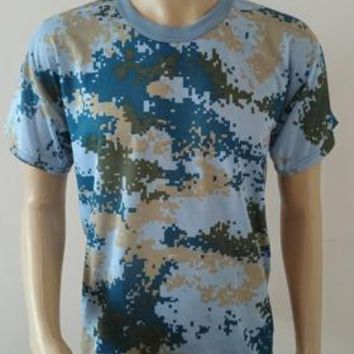 Mens' Camouflage Camo Military Army Outdoors Hunting Fishing T Shirt Cotton