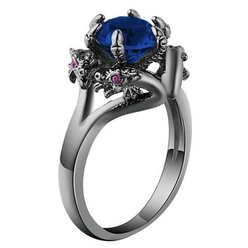 Dragon Ring Fashion Filled Vintage Crystal Engagement Accessories for Men Women