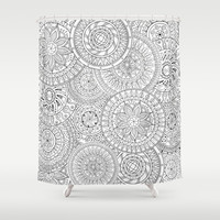 Circle Doodle Art Shower Curtain by Kate & Co.