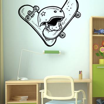 Vinyl Wall Decal Sticker Skateboards and Helmet #5109
