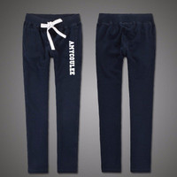 Cotton AF Holister Style High Quality Exercise Gym Fitness Yoga Everyday Wear Long Sport Sweatpants Trousers Pants _ 5800