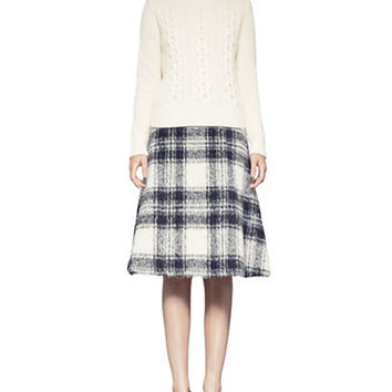 Pink Tartan Plaid Circle Skirt
