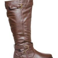 Buckle Straps Rider Knee High Boots