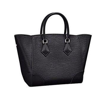 Tagre™ Authentic Louis Vuitton Epi Leather Phenix MM Bag Handbag Noir Article: M50590 Made in
