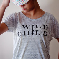 Wild Child Womens Shirt. Festival Shirt. Flowy Womens Top.