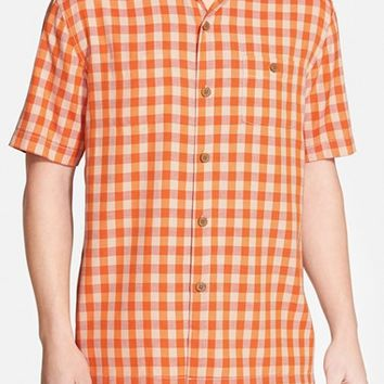 Men's Tommy Bahama 'Bring 'Em Gingham' Original Fit Silk Camp Shirt,