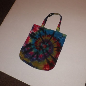 Tie Dye Tote Bag - Swirl w/ Black - Choose Any Colors