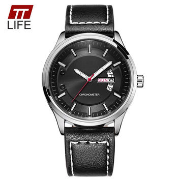 TTLIFE Mens Watches To Brand Luxury Men Military Wrist Watches Full Steel Men's Sports Quartz Watch Waterproof Large Dial Clock