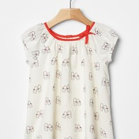 Gap Baby Shoe Print Dress