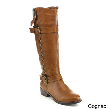 ANNA ENY-11 Women's Combat Riding Knee High Boots