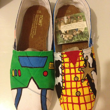 Toy Story Painted Shoes Toms available by SweetHeartShoes on Etsy