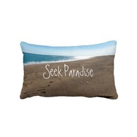 Beach Quote Throw Pillow from Zazzle.com