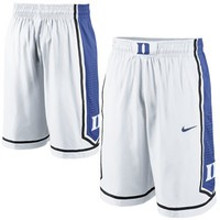 Nike Duke Blue Devils Replica Basketball Shorts - White