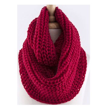 """""""Love the Classic"""" Crochet Big Thick Red Infinity Scarf"""