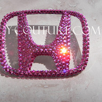 Crystal BLING HONDA Emblem bedazzled with Swarovski