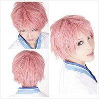 Unisex Short Straigh Party Wig Boy Exorcist Renzou Shima Cosplay FULL Wigs + Cap
