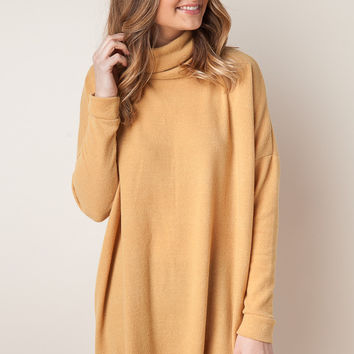 Under The Mistletoe Mustard Tunic