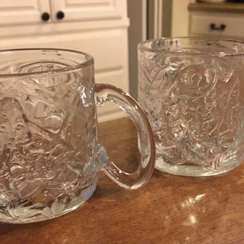 Set of 2 - McDonalds Batman Forever Replacement Mugs Two-Face Joker DC Comics
