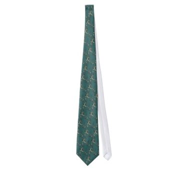 18K Teal and Gold Mens Tie