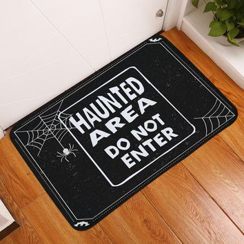 Autumn Fall welcome door mat doormat HomeMiYN Bath Mat Black Foot Pads Spider Letters Flannel Printed Rectangle  Home Decoration Outdoor Entrance New Arrival AT_76_7
