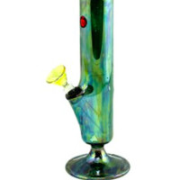 "Dynomite Glass - 7"" MINI COLOR STRAIGHT WATERPIPE W/ CARB HOLE"
