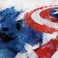 Captain America Stretched Canvas by Melissa Smith