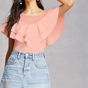 Ruffled Illusion Top