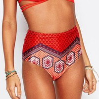 Minkpink | Minkpink Rosewater High Wasted Bikini Bottoms at ASOS
