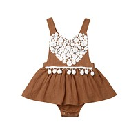 Boho Heart Romper Dress