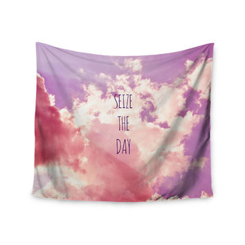 "Iris Lehnhardt ""Seize the Day"" Pink Purple Wall Tapestry"
