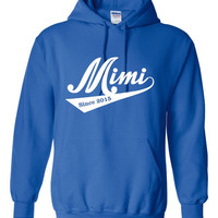 Pesonalized Mimi Hoodie T Shirt Great gift for MIMI Grandma Mothers Day Hoodie Personalized Grandma Mimi Hooded Sweatshirt Mothers Day Gift