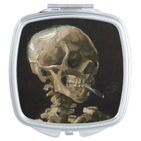 Skull with Burning Cigarette Vincent van Gogh Art Vanity Mirrors