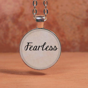 Fearless Pendant Necklace Inspiration Jewelry