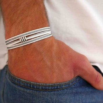 Men's Bracelet - Men's Beaded Bracelet - Men's Vegan Bracelet - Men's Jewelry - Men's Gift - Boyfriend Gift - Husband Gift - Guys Jewelry