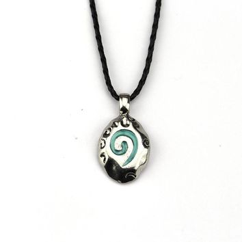 Hot Game Hearthstone The Grand Tournament Coin Card Necklace WOW Hearth Stone Metal Leather Chain Pendant Model Toy Collier