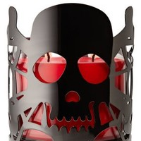 Black Skull 14.5 oz. Metal Candle Sleeve - Slatkin & Co. - Bath & Body Works