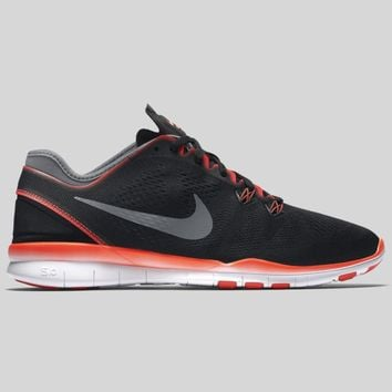 AUGUAU Nike Wmns Free 5.0 TR Fit 5 Black Dark Grey Bright Crimson
