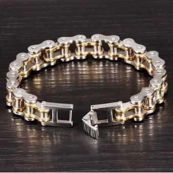 Cool Stainless Steel Men's Biker Chain Bracelet