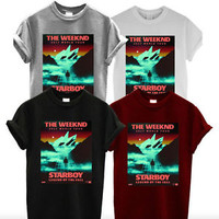 The Weeknd Shirt  Starboy Legend of The Fall World Unisex T-shirt size S-2XL #1
