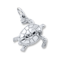 Sea Turtle Charm Sterling Silver