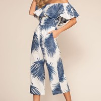 Isla Bonita Off The Shoulder Culotte Jumpsuit