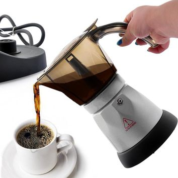 4 Cups 3 minutes Electric Automatic Coffee Maker French Press Cafetiere Coffee Tea Pot Kettle ,Coffee Machine