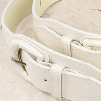 White High Waist Belt