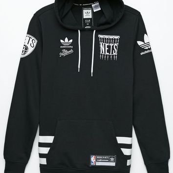 adidas - The Hundreds Brooklyn Nets Hoodie - Mens Hoodie - Black