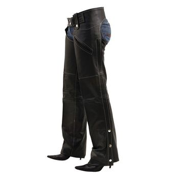 Plain Leather Ladies Chaps
