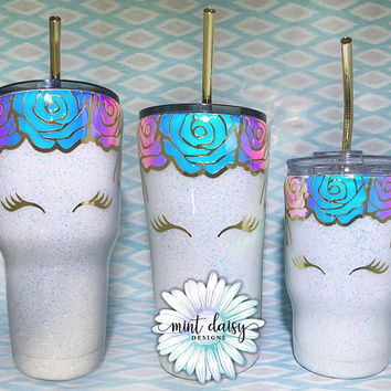 Glitter Dipped Stainless Steel Unicorn Tumblers