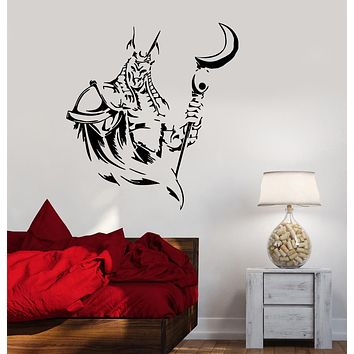 Wall Decal God of Egypt Anubis Deity Sphinx Vinyl Sticker (ed1605)
