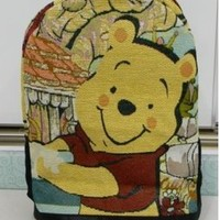 Cool bags green canvas bag girl Winnie the Pooh bag Schoolbag