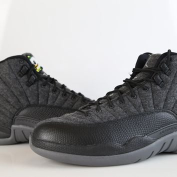 BC HCXX Nike Air Jordan Retro 12 Wool Oregon Ducks Custom PE Official Tinker Signed size 9.5 (NO Codes)