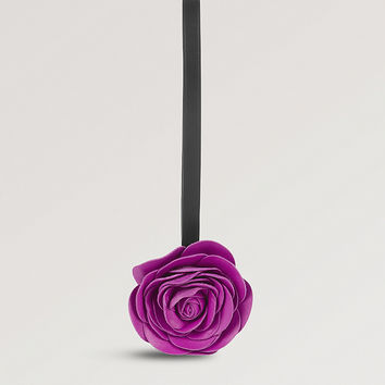LOEWE Rose leather bag charm